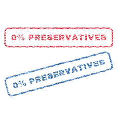 0 percent preservatives textile stamps vector