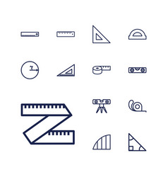 13 ruler icons vector
