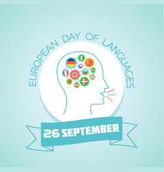 26 september european day of languages vector image