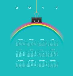 A 2017 Calendar with Rainbow vector