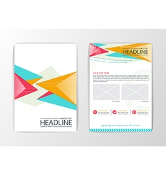 Abstract Background modern Triangle design vector image