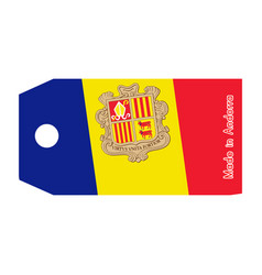 Andorra flag on price tag with word made in vector