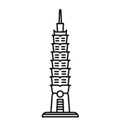 Asian stupa icon outline style vector