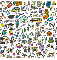 back to school seamless pattern for your design vector image