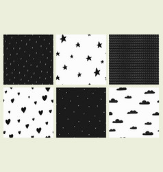 Background black and white scandinavian style vector