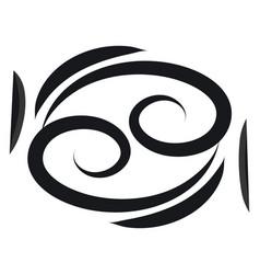 basic black cancer horoscope sign tattoo on white vector image