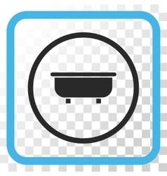 Bathtub Icon In a Frame vector