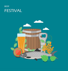 beer festival flat style design vector image