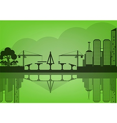 Black cities silhouette urban concept epoch vector