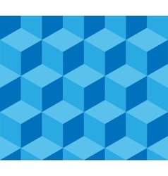 Blue cubic seamless pattern vector