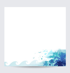 blue palm tree design tropical summer background vector image