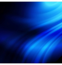 Blue smooth twist light lines background vector image