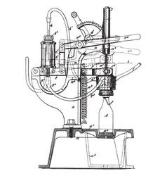 Bottling machine vintage vector