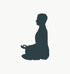 businessman meditation vector image
