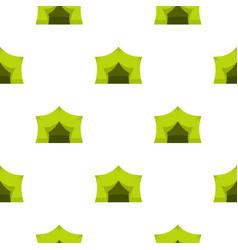 Camping equipment pattern flat vector
