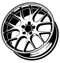 Car wheel rims vector