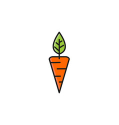 carrot agriculture flat logo design inspiration vector image