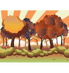 Cartoon Autumn Forest3 vector