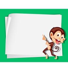 Cartoon Paper Space Monkey vector