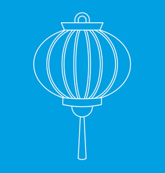 Chinese new year lantern icon outline style vector