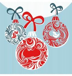 christmas decorative vector image