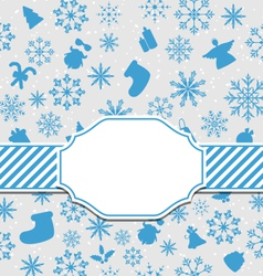Christmas greeting card with copy space for yout vector image