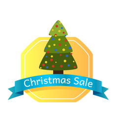 christmas sale abstract tree logo vector image