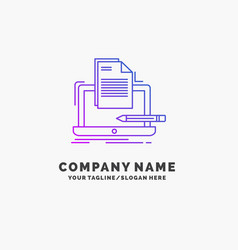 Coder coding computer list paper purple business vector