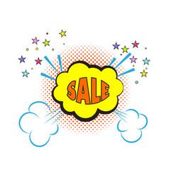 comic sale explosion pop art style vector image