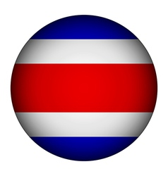 Costa Rica flag button vector image