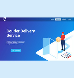 courier delivery 3d template vector image