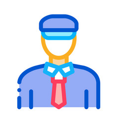 custom police man icon outline vector image