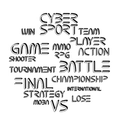 Cyber sport phrases vector image