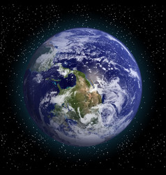 earth in space elements of this furnished by nasa vector image