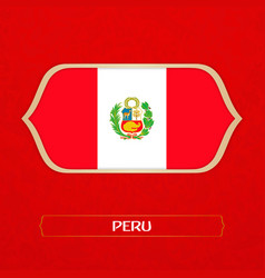 flag of peru is made in football style vector image