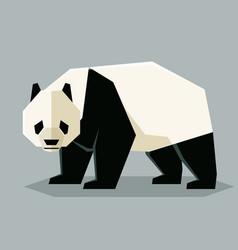 flat geometric giant panda vector image
