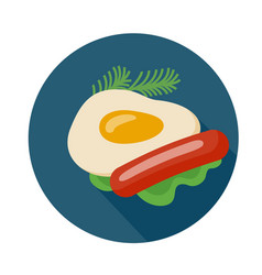 Flat style omelette icon vector
