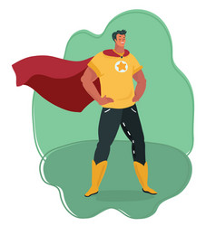 Front view a powerful and muscular superhero vector