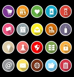 General folder icons with long shadow vector