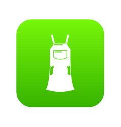 girl dress icon green vector image