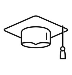 Graduated hat icon outline style vector