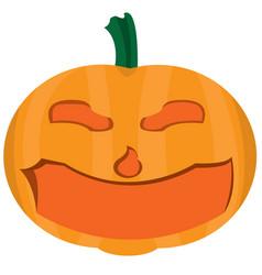 Isolated halloween pumpkin vector