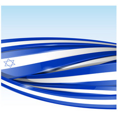 Israel flag banner background vector
