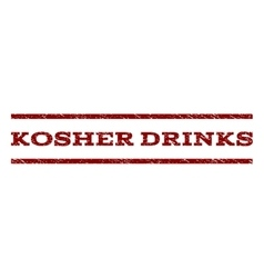 Kosher Drinks Watermark Stamp vector
