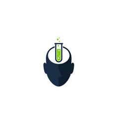 Lab human head logo icon design vector