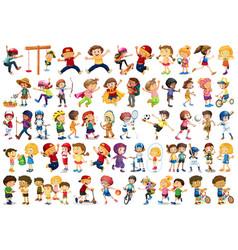 Large set different kids vector