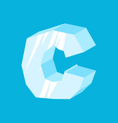 letter c ice font icicles alphabet freeze vector image