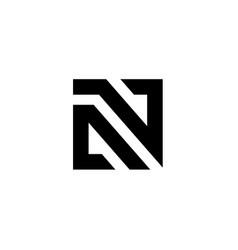 letter n logo icon design template vector image