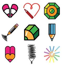 Logo icons pencil vector