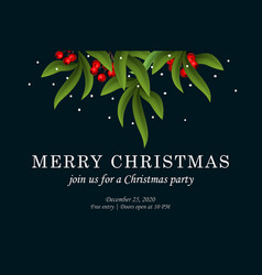 merry christmas party invitation template vector image